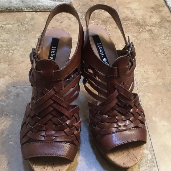 0f58bf4f752f libby. edelman Shoes - Libby Edelman Brown Platform Heel Huaraches
